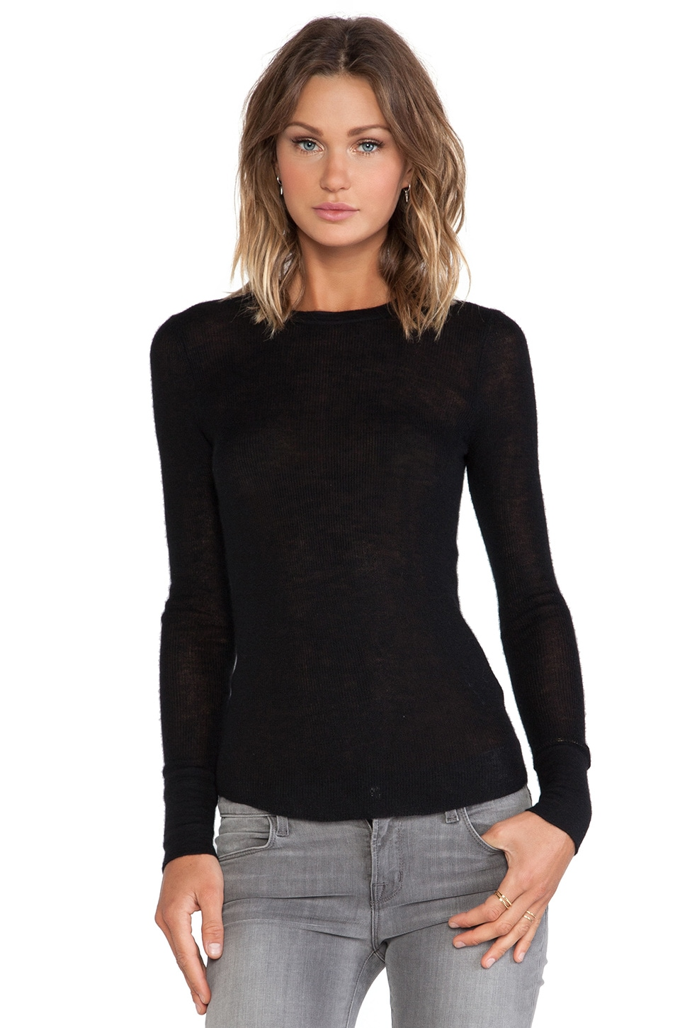 Citizens of Humanity Cashmere Thermal in Black