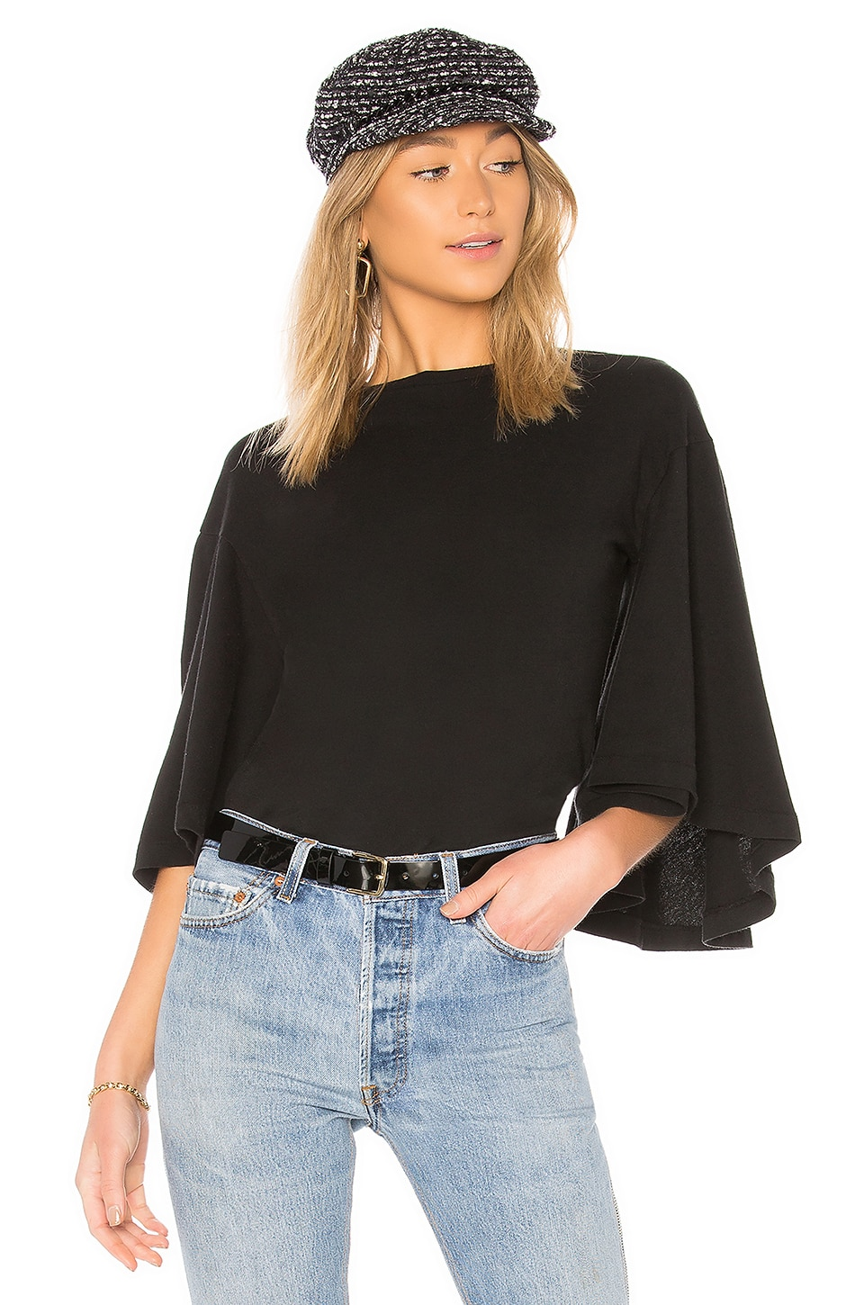 Citizens of Humanity Flutter T Shirt in Black