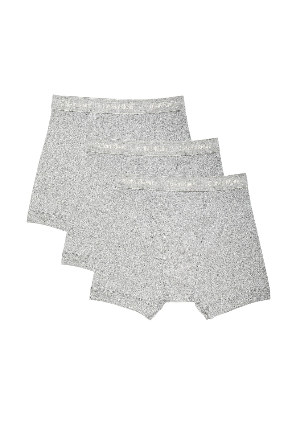 Calvin Klein Underwear Cotton Classics 3 Pack Boxer Briefs in Heather Grey