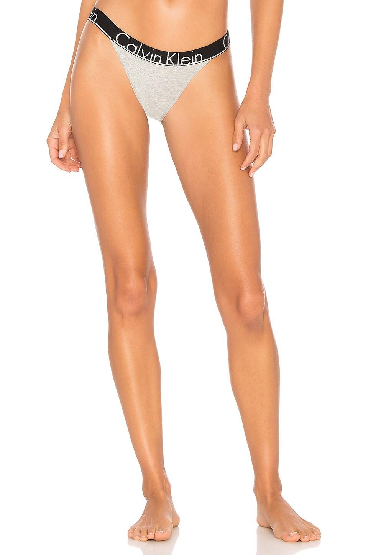Calvin Klein Underwear CK ID Cotton Bikini Bottom in Heather Grey & Silver