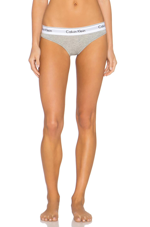 Calvin Klein Underwear Modern Cotton Bikini in Grey Heather