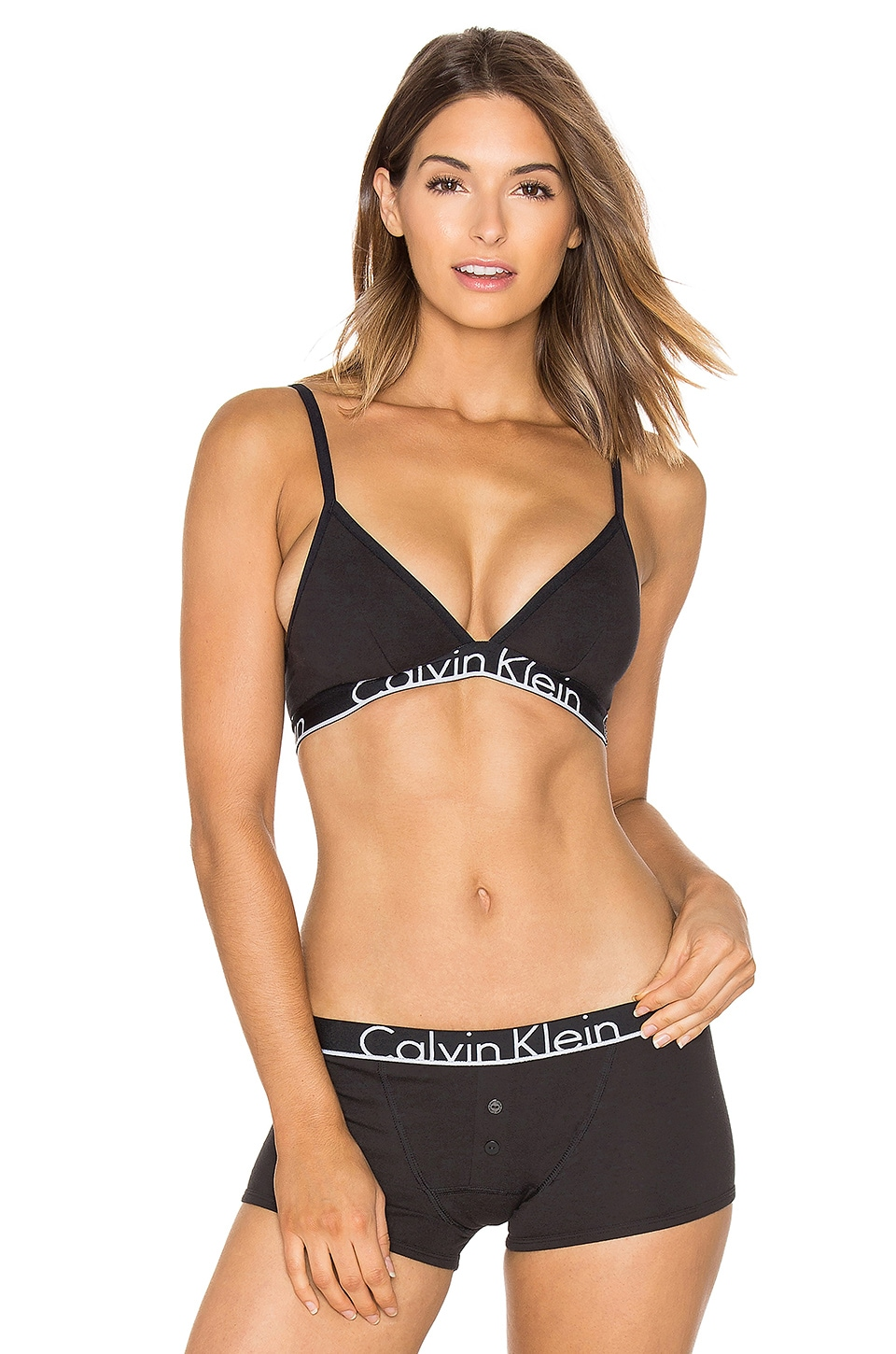 Calvin Klein Underwear Cotton Unlined Bra in Black
