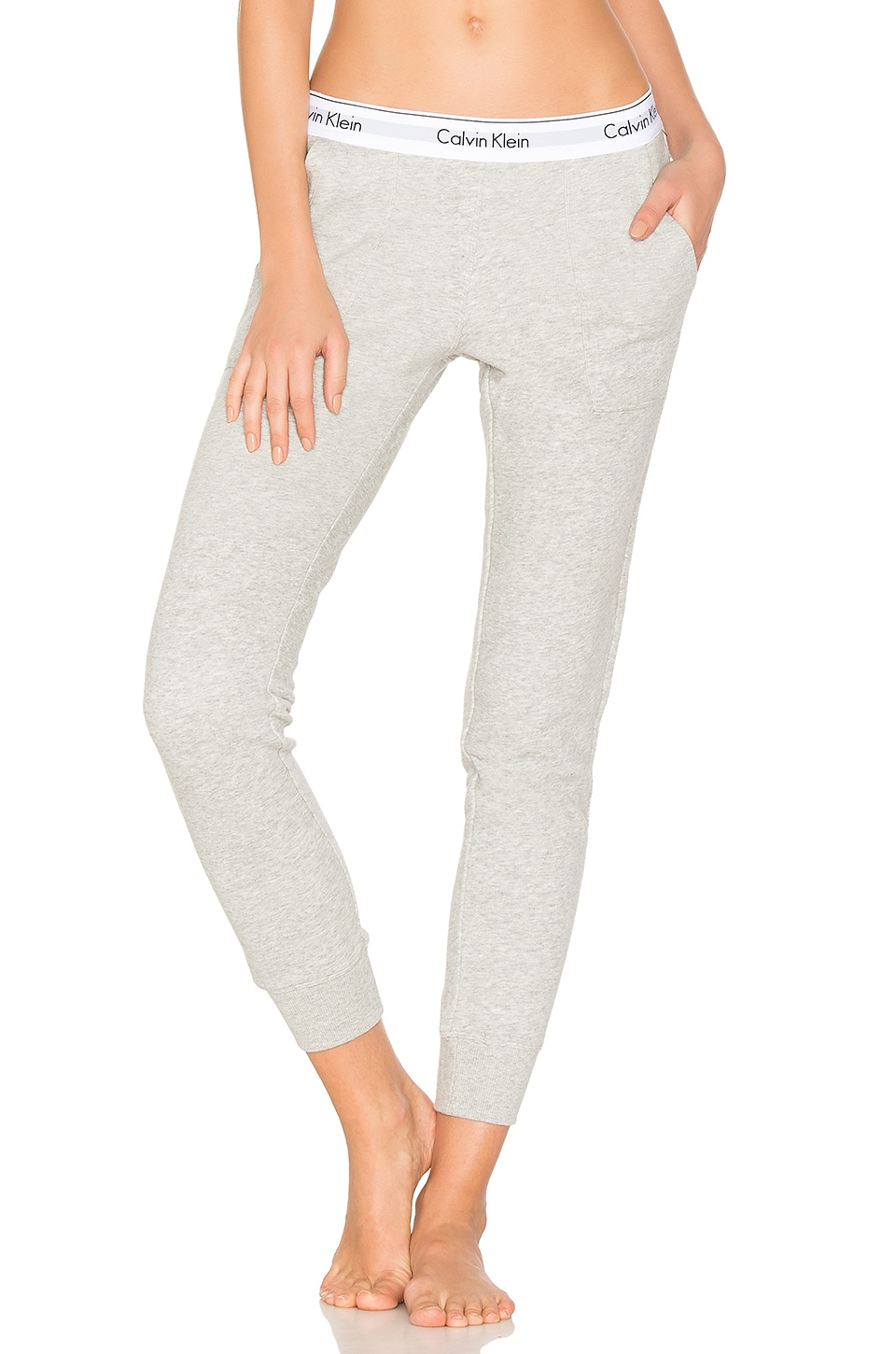 CALVIN KLEIN Lounge Bold Heather Gray Womens Jogger Pants