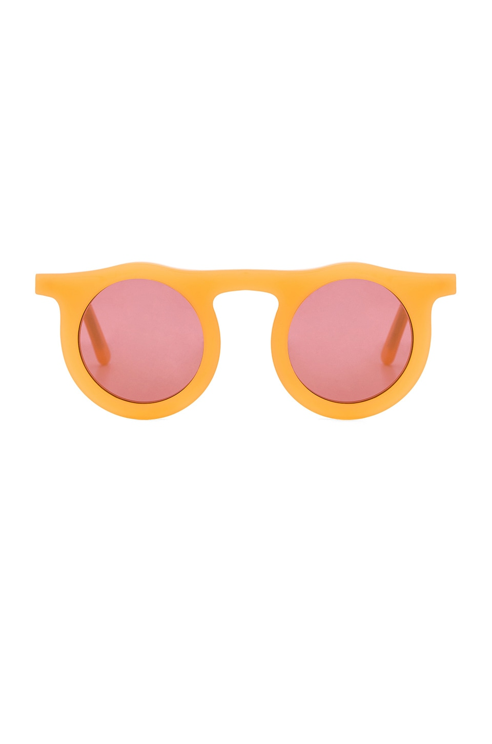 Carla Colour Lind Circles Sunglasses in Citric Acid with Nightshade Lenses