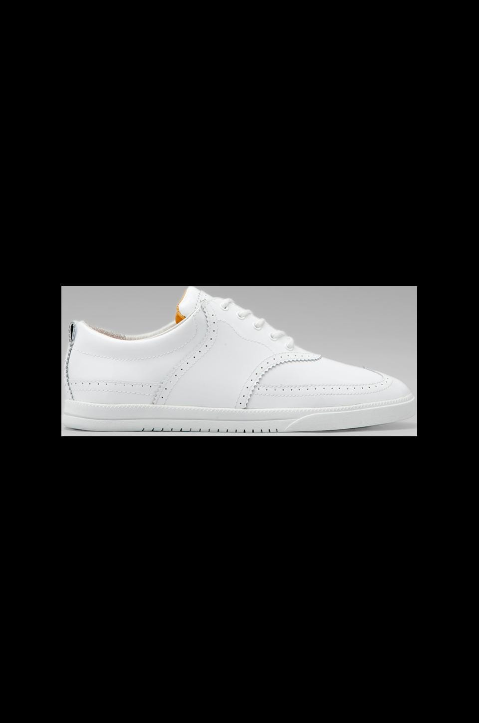 Clae Powell in White Patent Leather