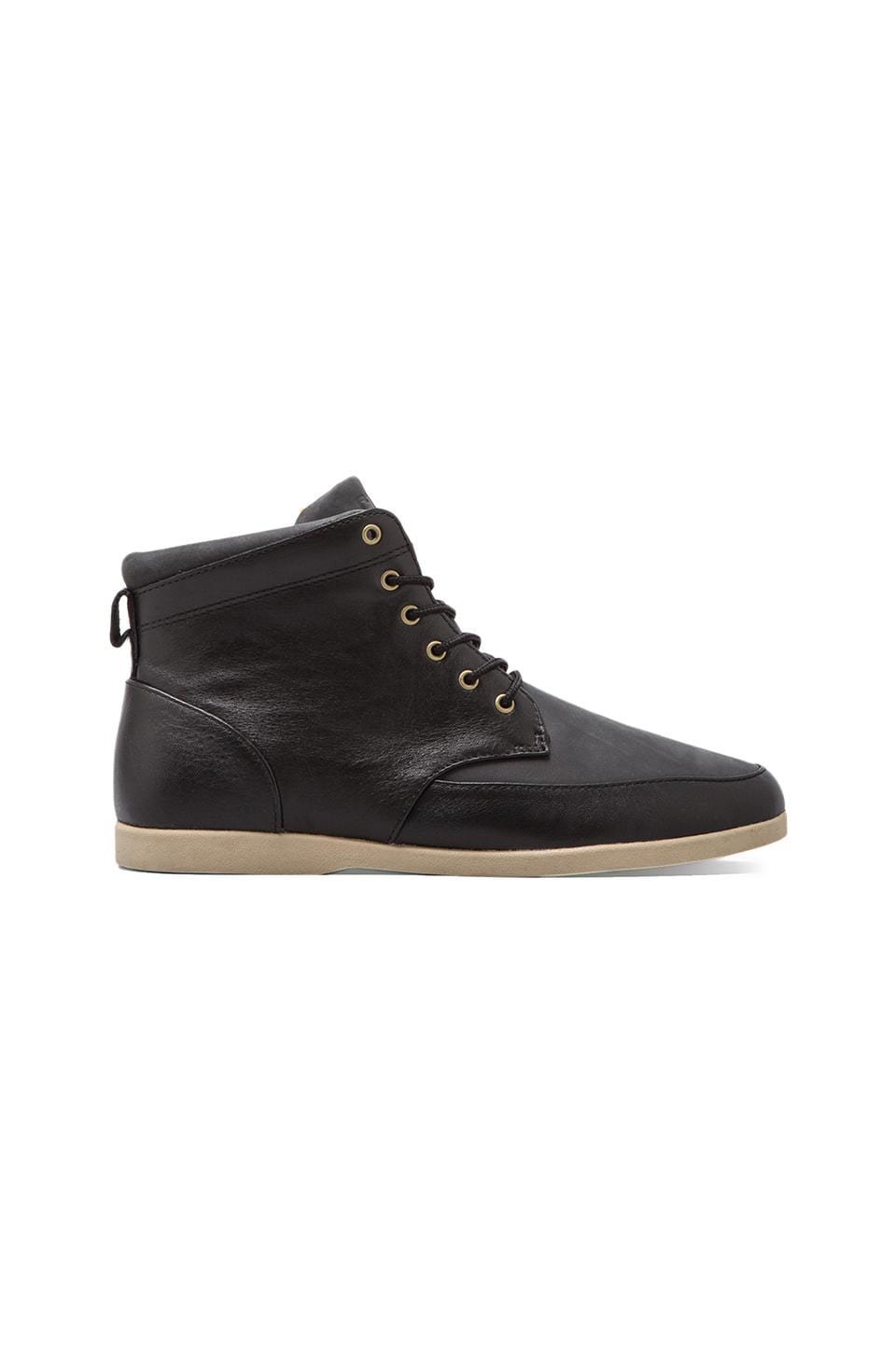 Clae Hamilton in Black Leather