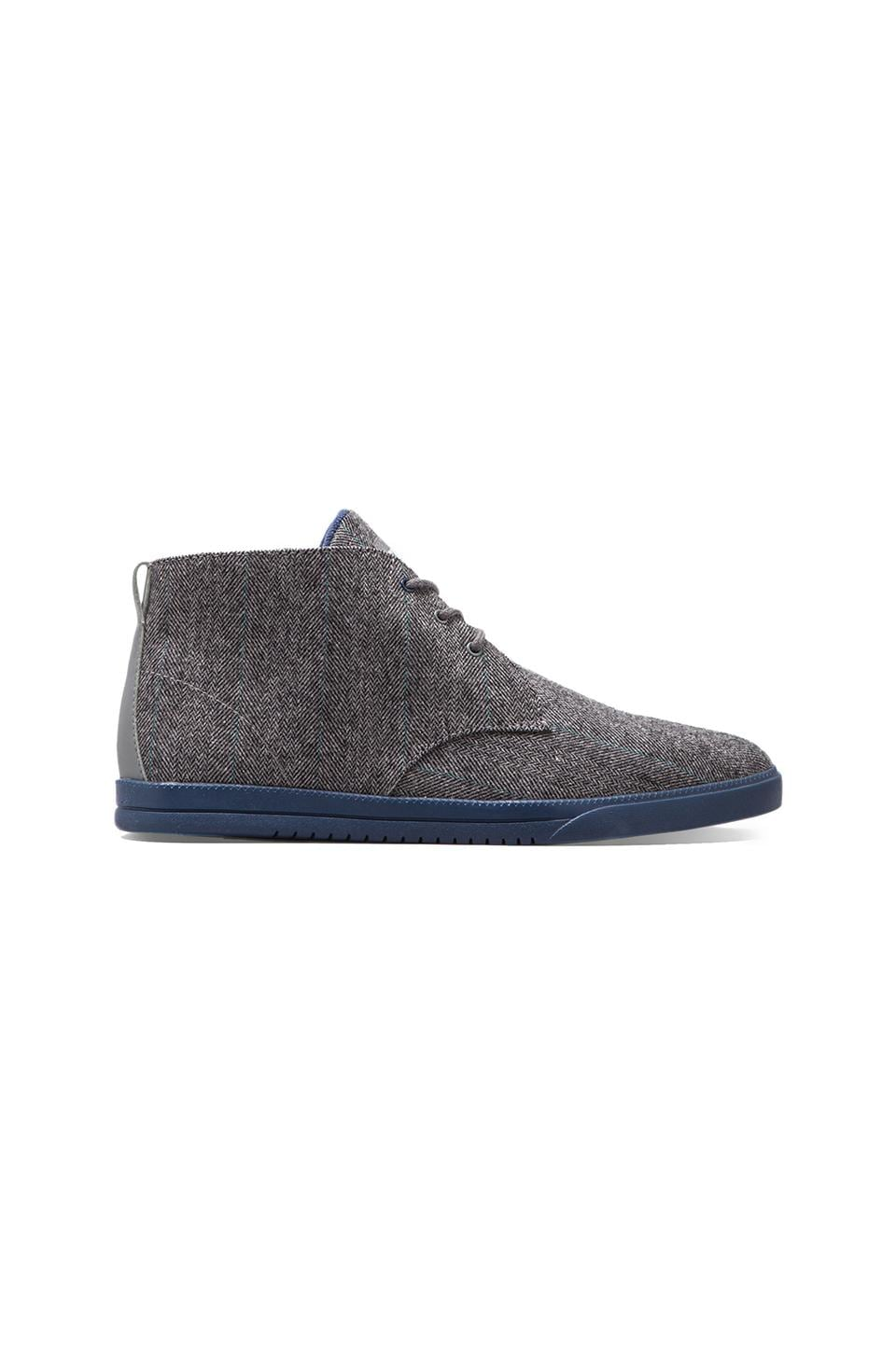 Clae Strayhorn Textile en Charcoal Wool Midnight