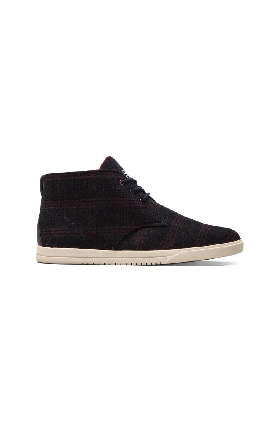 Clae Strayhorn Textile in Deep Navy Plaid