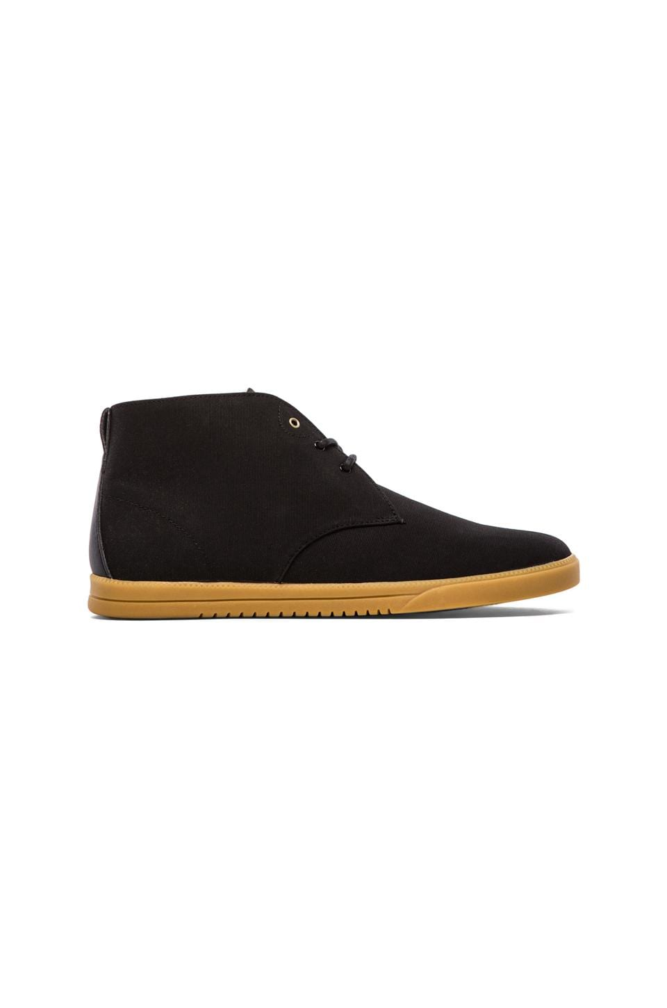 Clae Strayhorn Textile in Black Canvas Light Gum