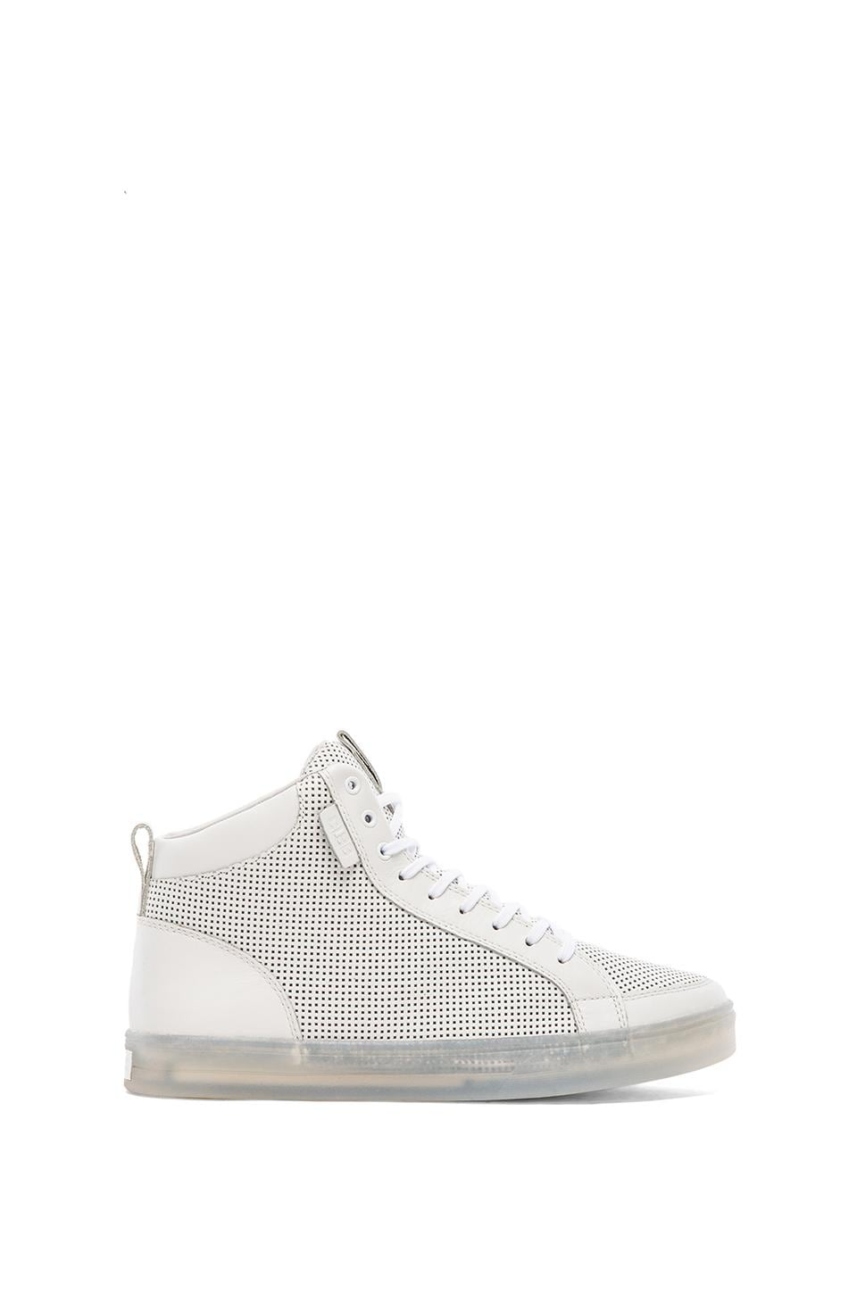 Clae Russell 07 in White Perf Leather