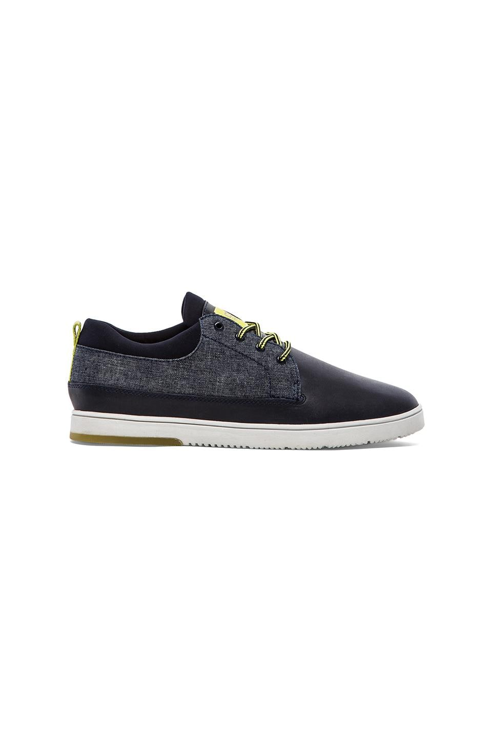 Clae Gordon in Deep Navy Leather Chambray