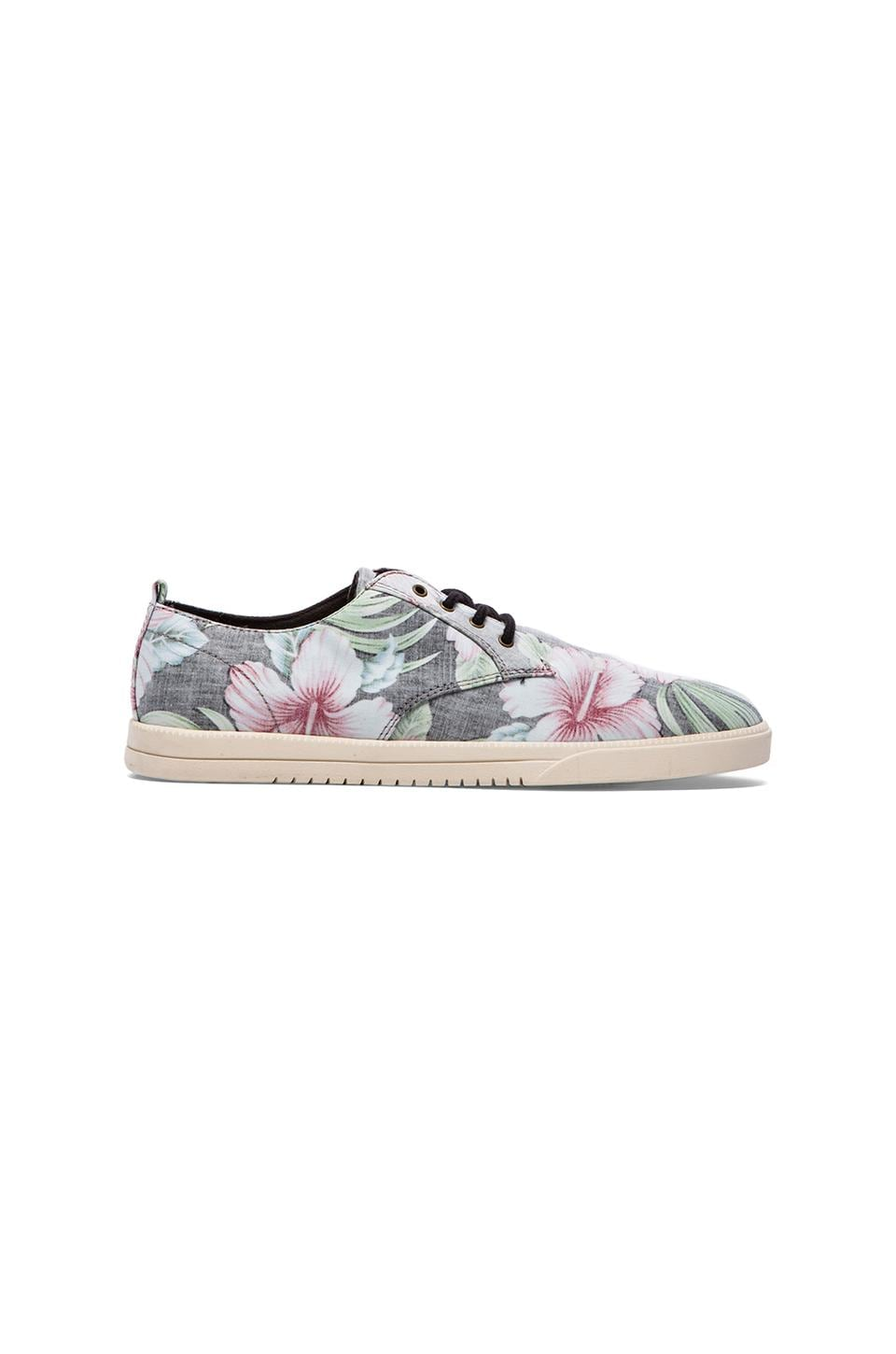 Clae Ellington Textile in Black Floral Hawaii Canvas