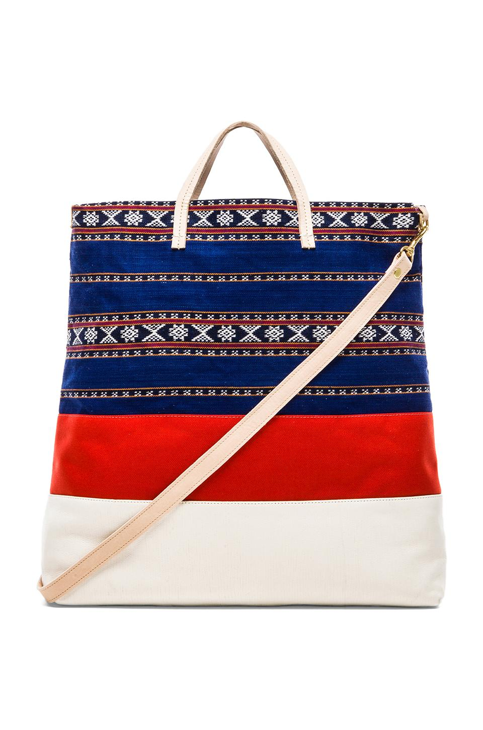 Clare V. Matilde Canvas Tote in Mexican Print