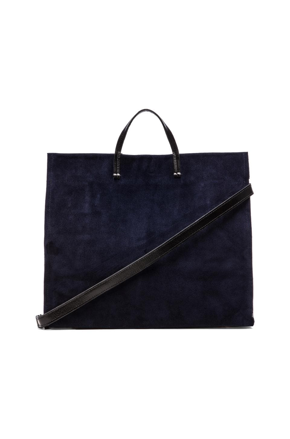 Clare V. Simple Tote in Navy Suede