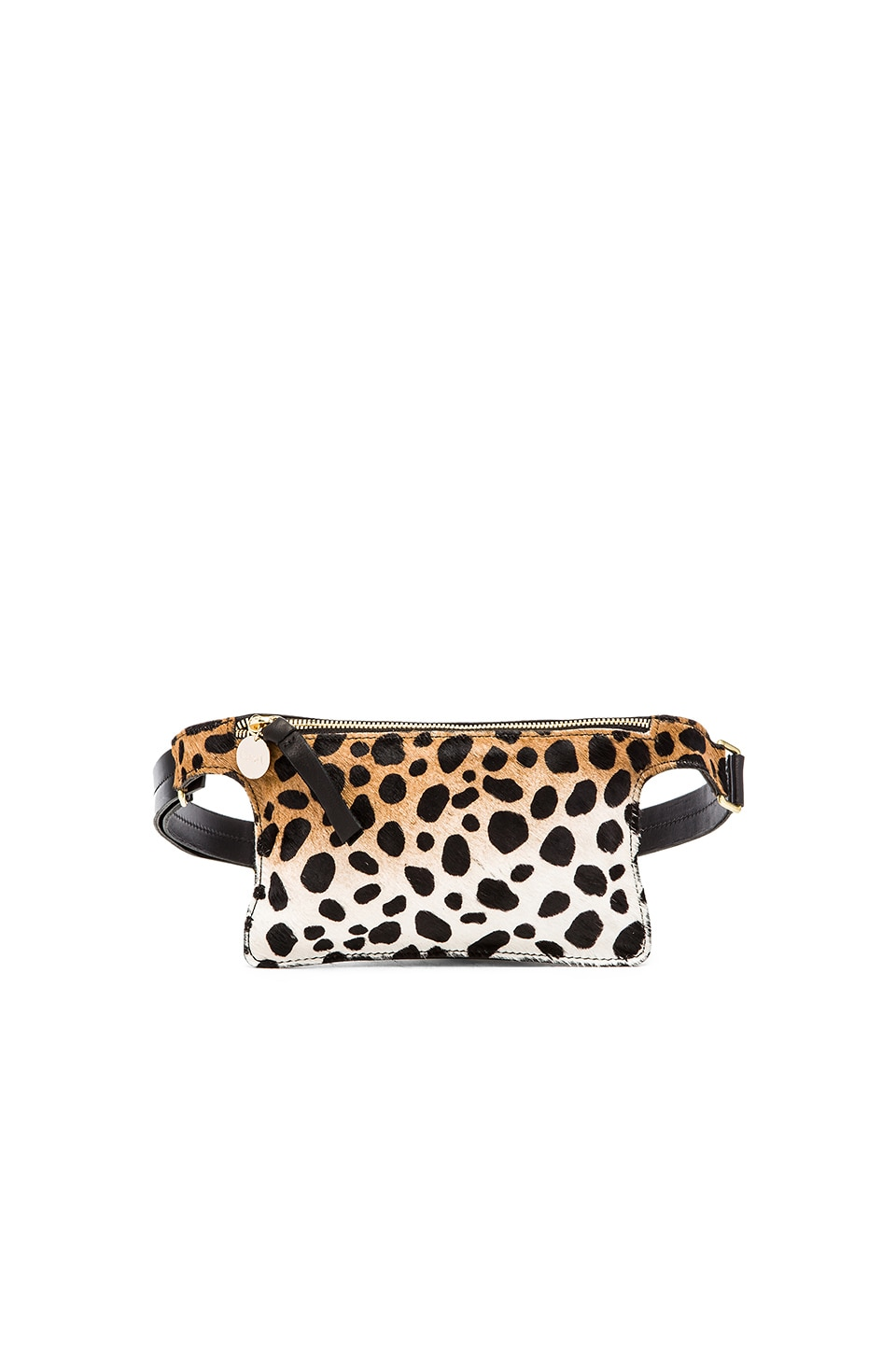 Clare V. Petit Fanny Pack in Leopard & Black