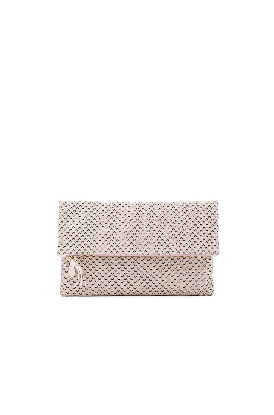 Clare V. Foldover Clutch in Cream Cut Out