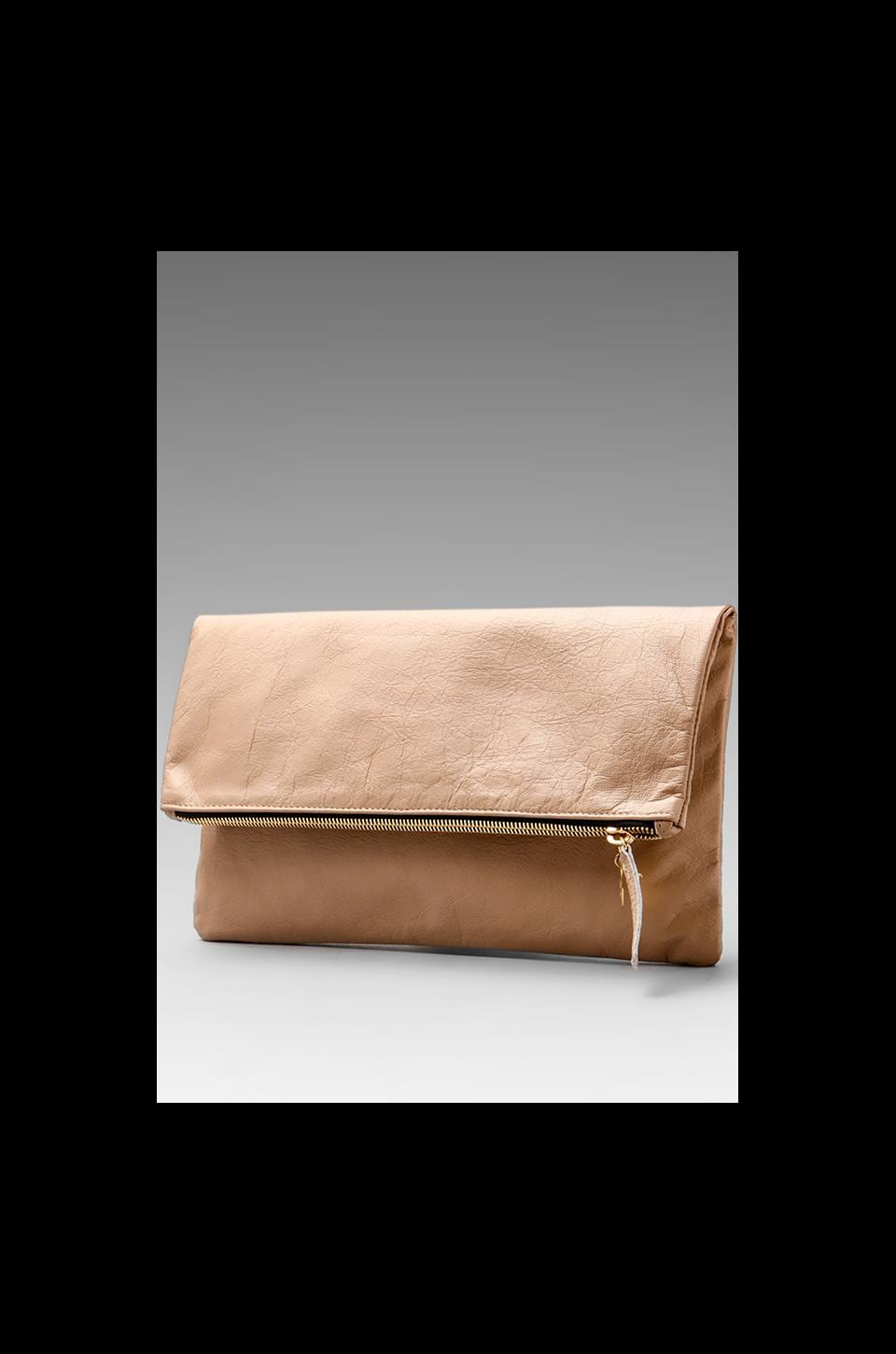 Clare V. Foldover Clutch in Blush