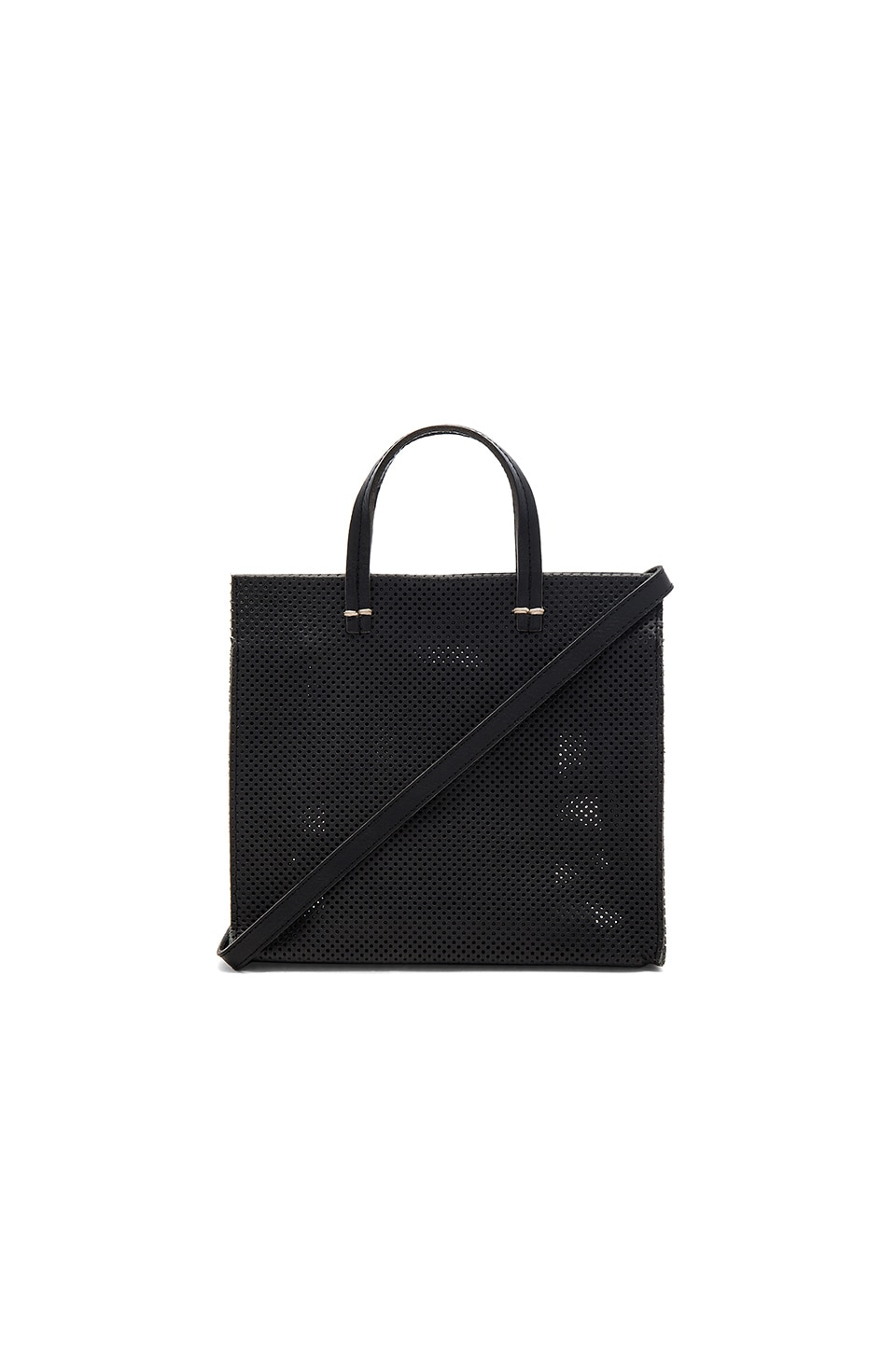 Clare V. Petit Simple Tote Perf in Black