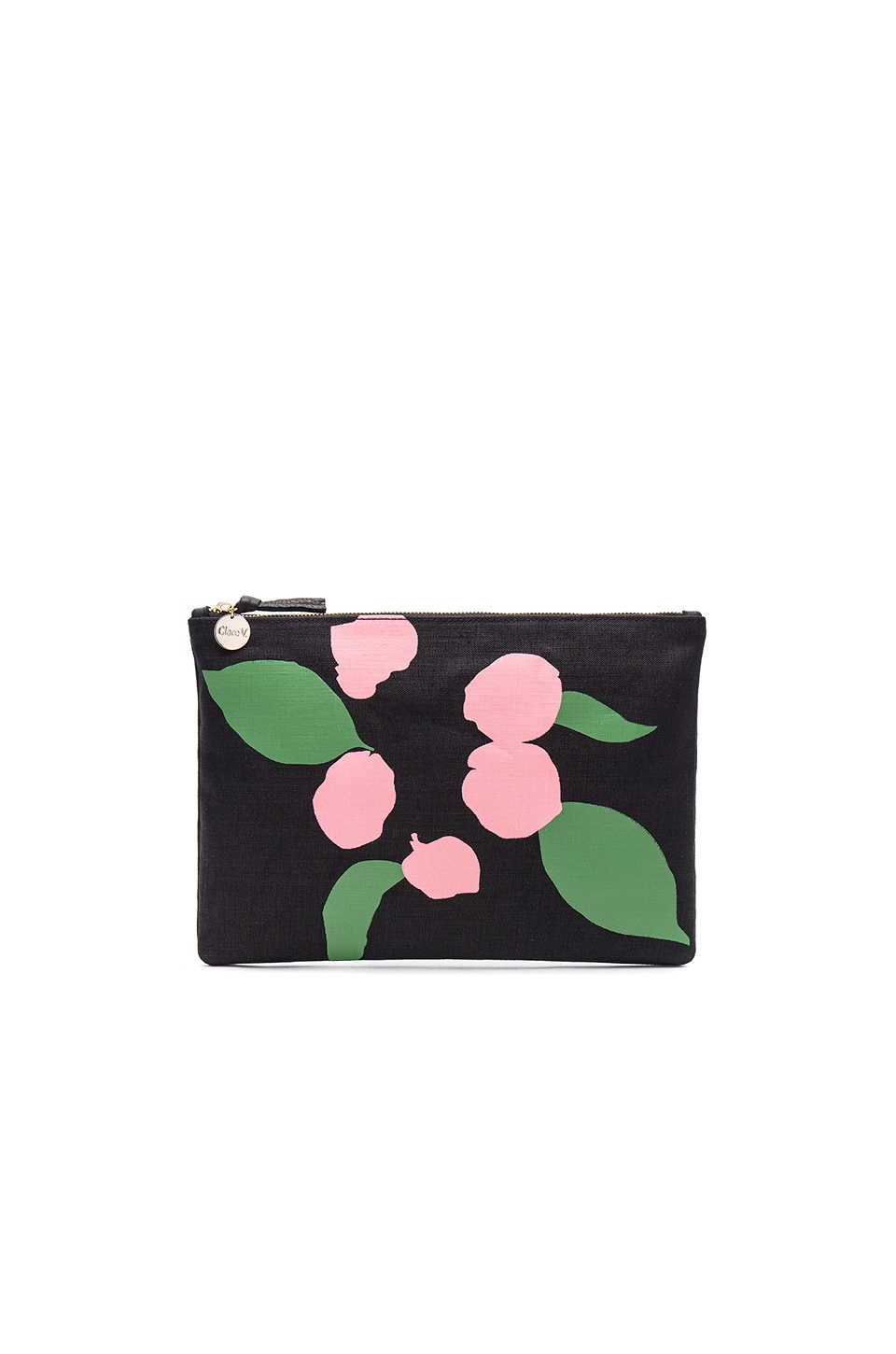Flat Canvas Clutch by Clare V.