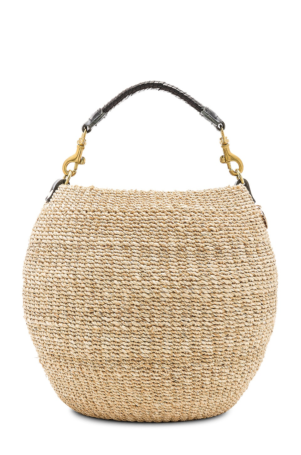 Clare V. Pot De Miel Tote in Cream Woven