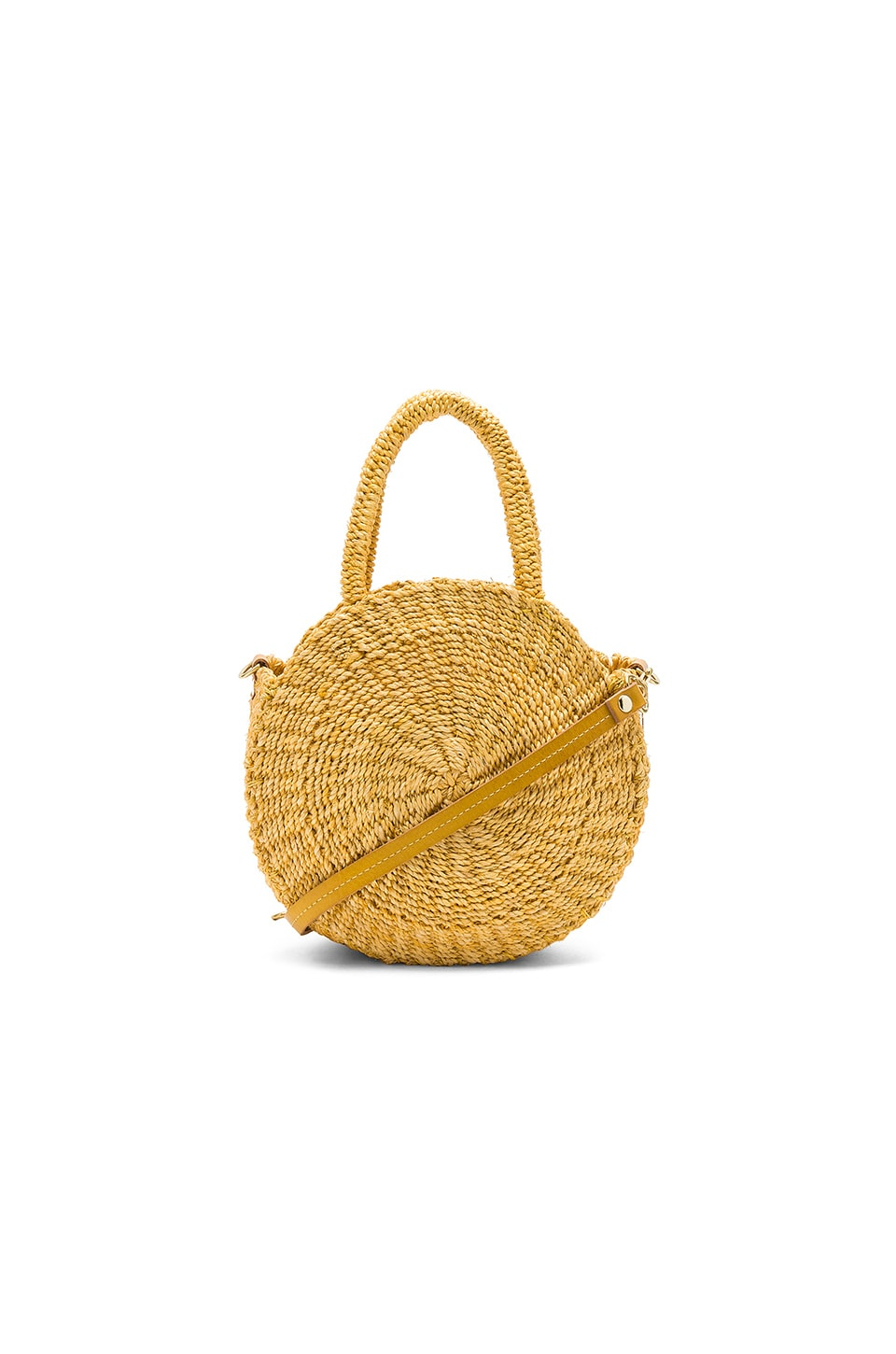 Clare V. Petite Alice Tote in Yellow Woven