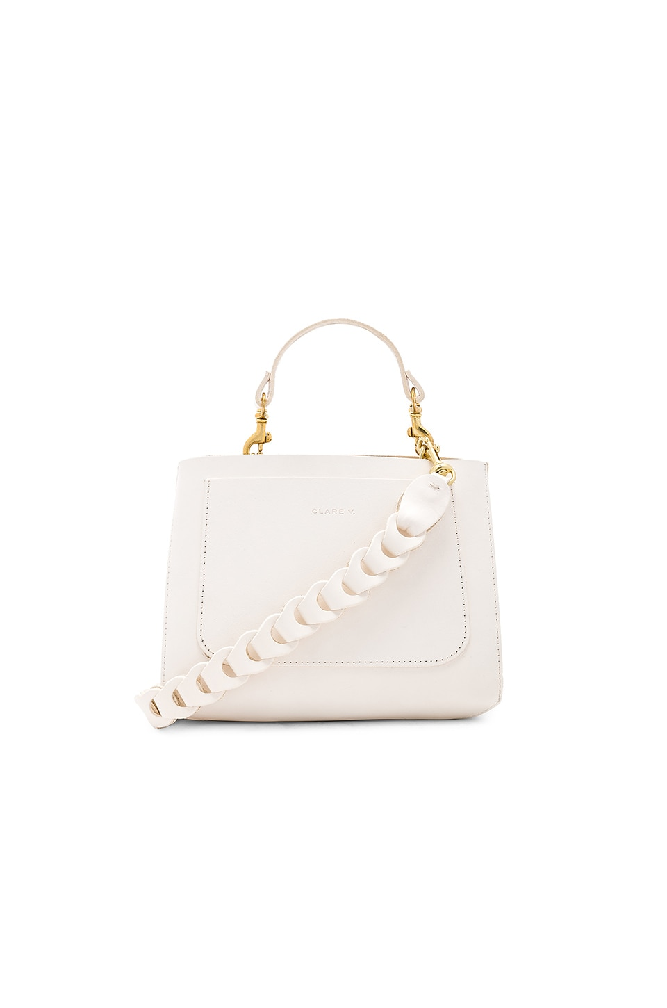 Clare V. Brique Bag in White