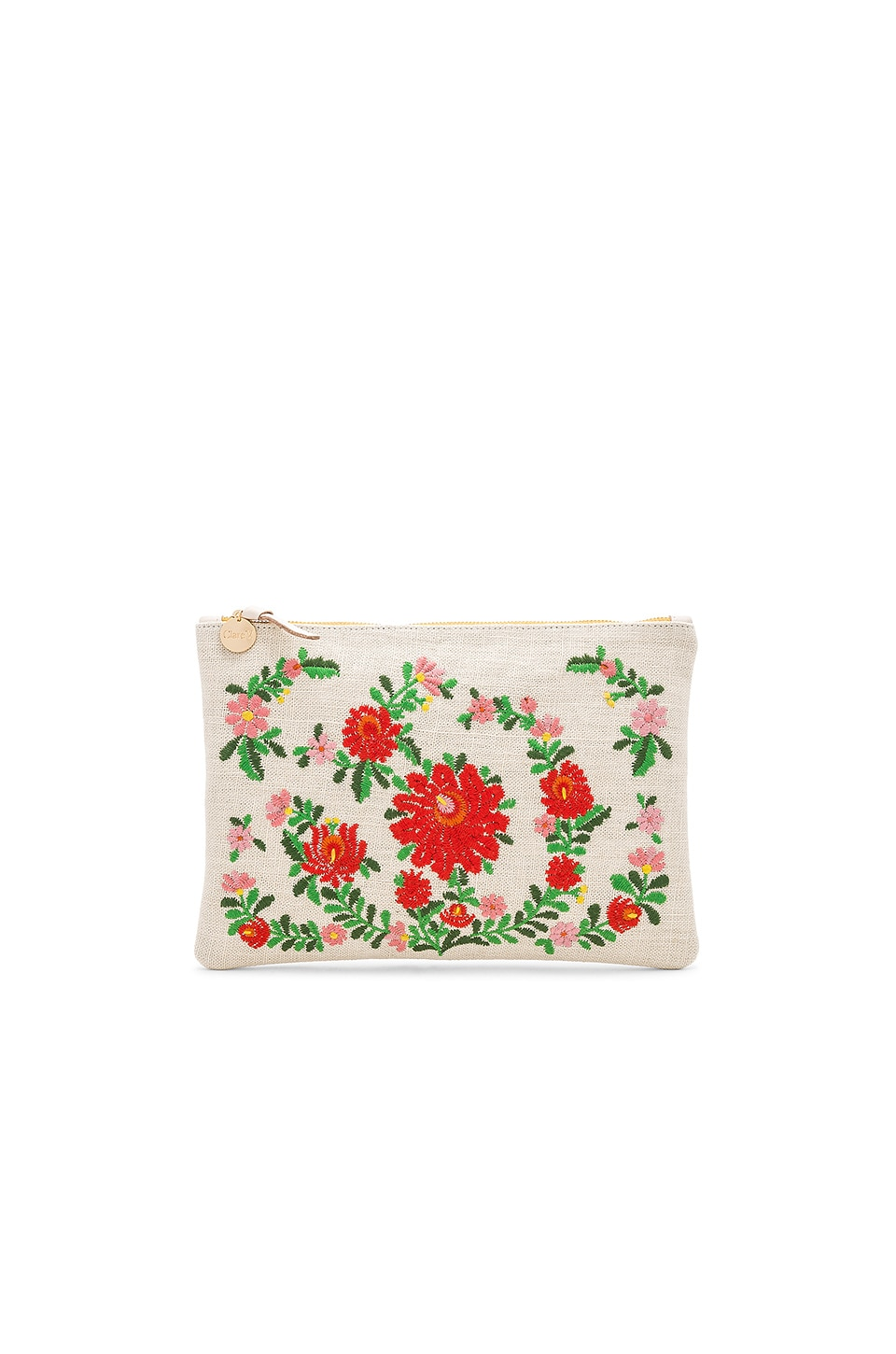 Clare V MEXICAN EMBROIDERED FLAT CLUTCH