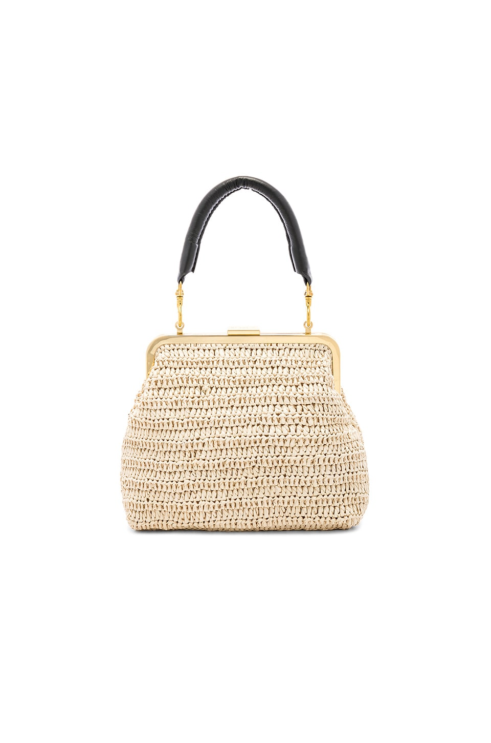 Clare V. Flore Bag in Cream Raffia