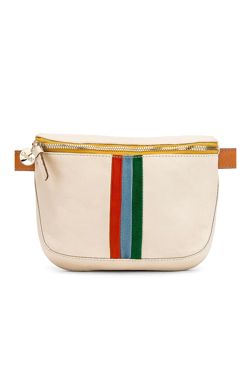 Clare V. Fanny Pack in White Rustic & Desert Stripes