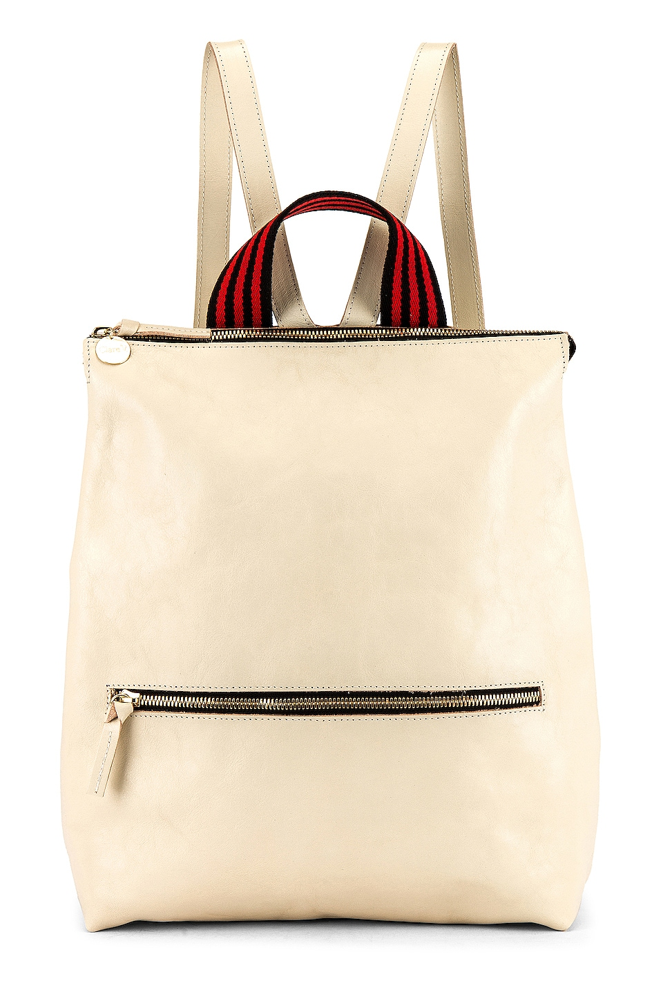 Clare V. Remi Backpack in White Rustic