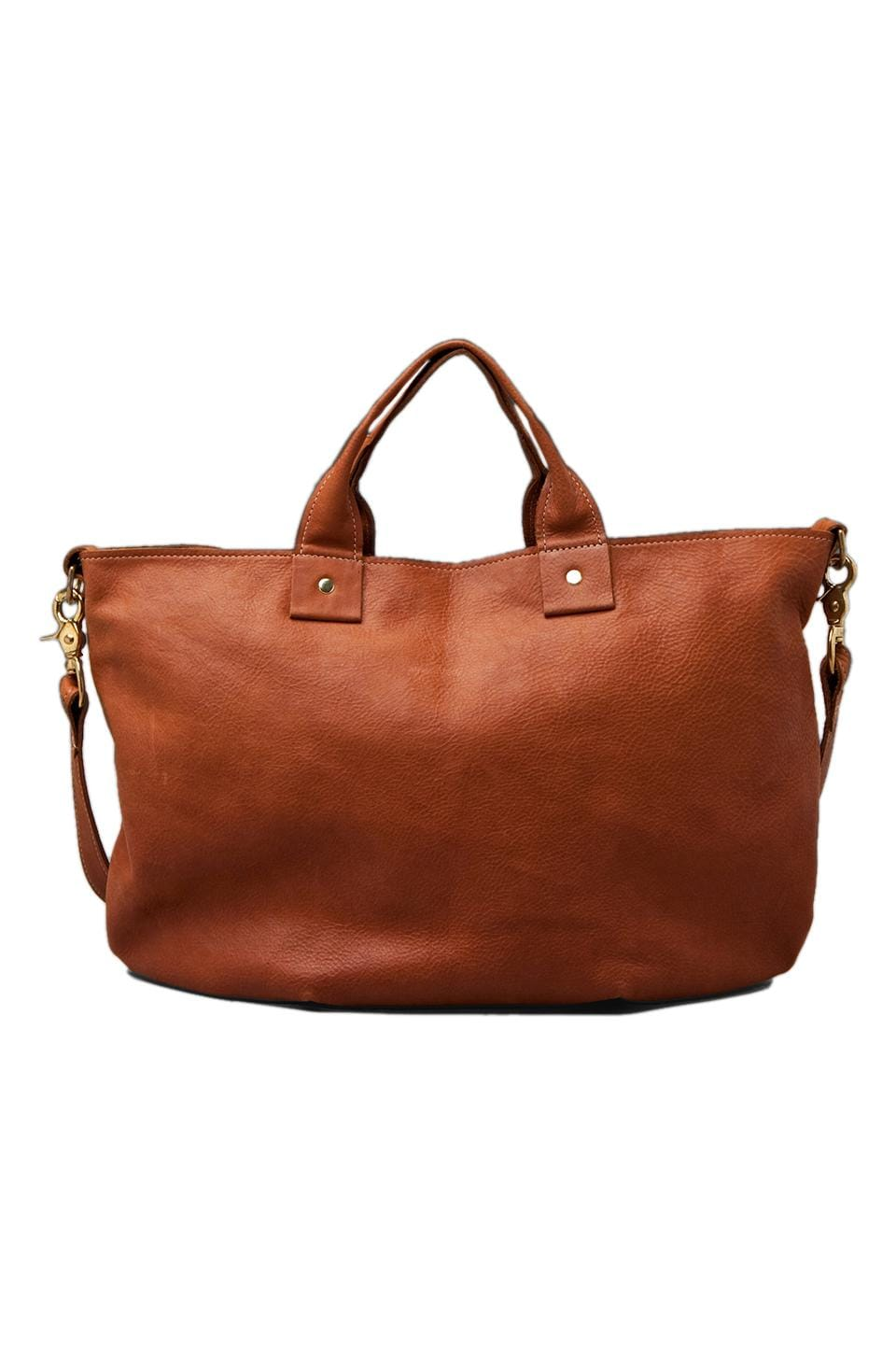 Clare V. Messenger Bag in Cognac