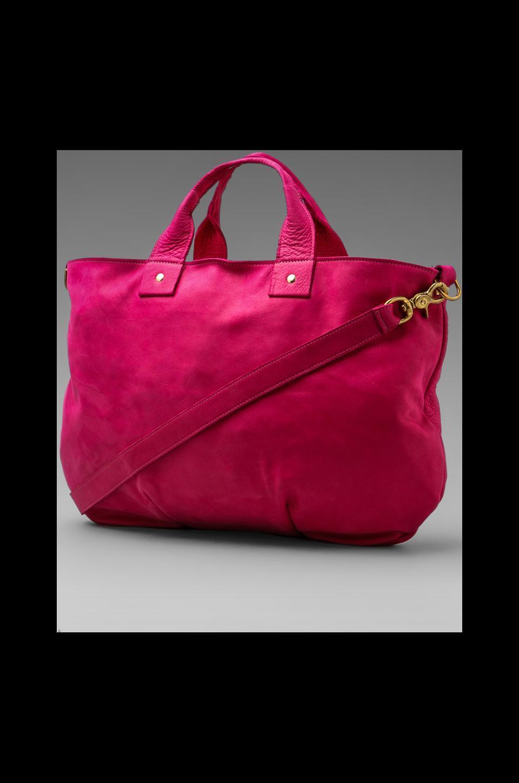 Clare V. Maison Messenger in Pink Nubuck