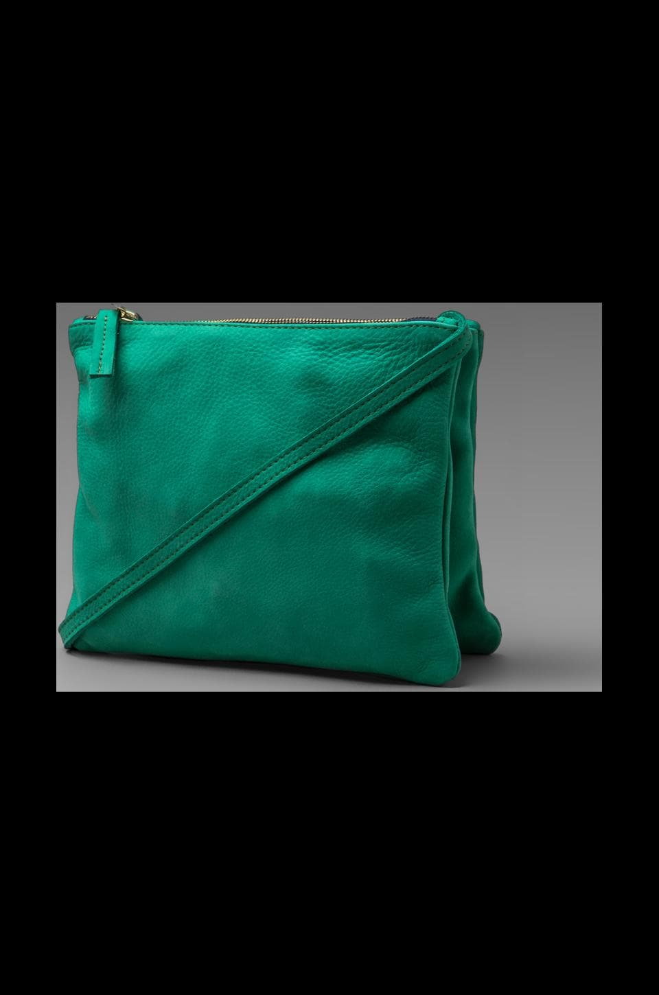 Clare V. Maison Sac Brettele in Kelly Green Nubuck