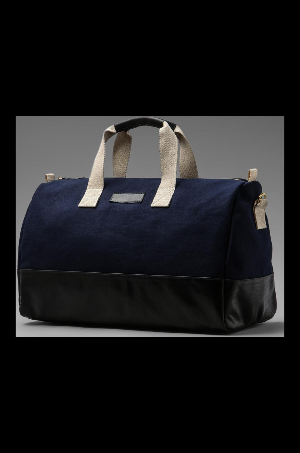 Clare V. Adam Duffle in Blue Canvas/Sanguine New Look