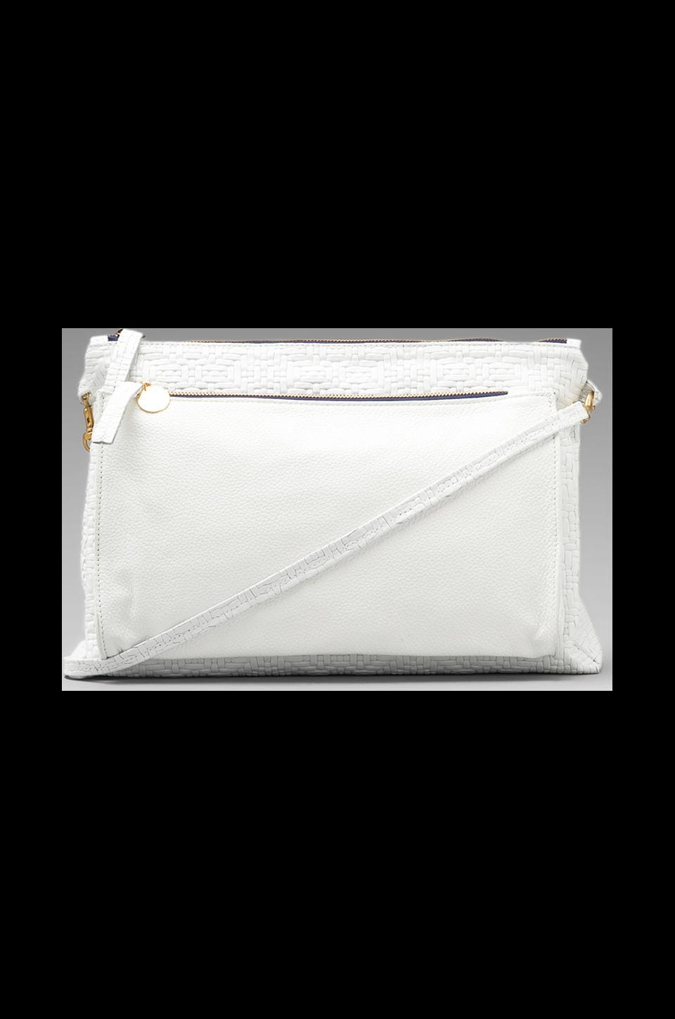 Clare V. Gosee Clutch in White