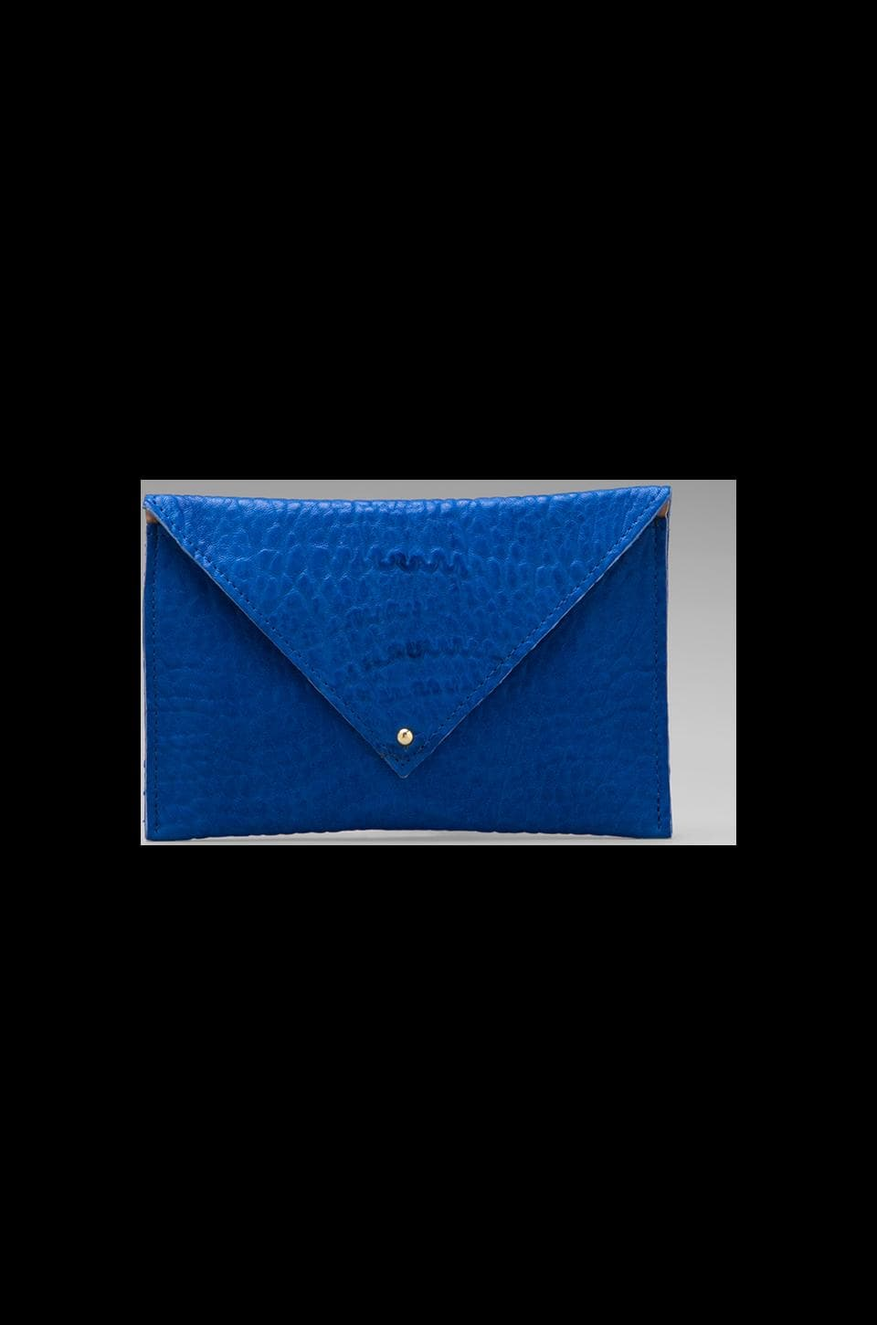 Clare V. Grande Pochette in Blue Pebble