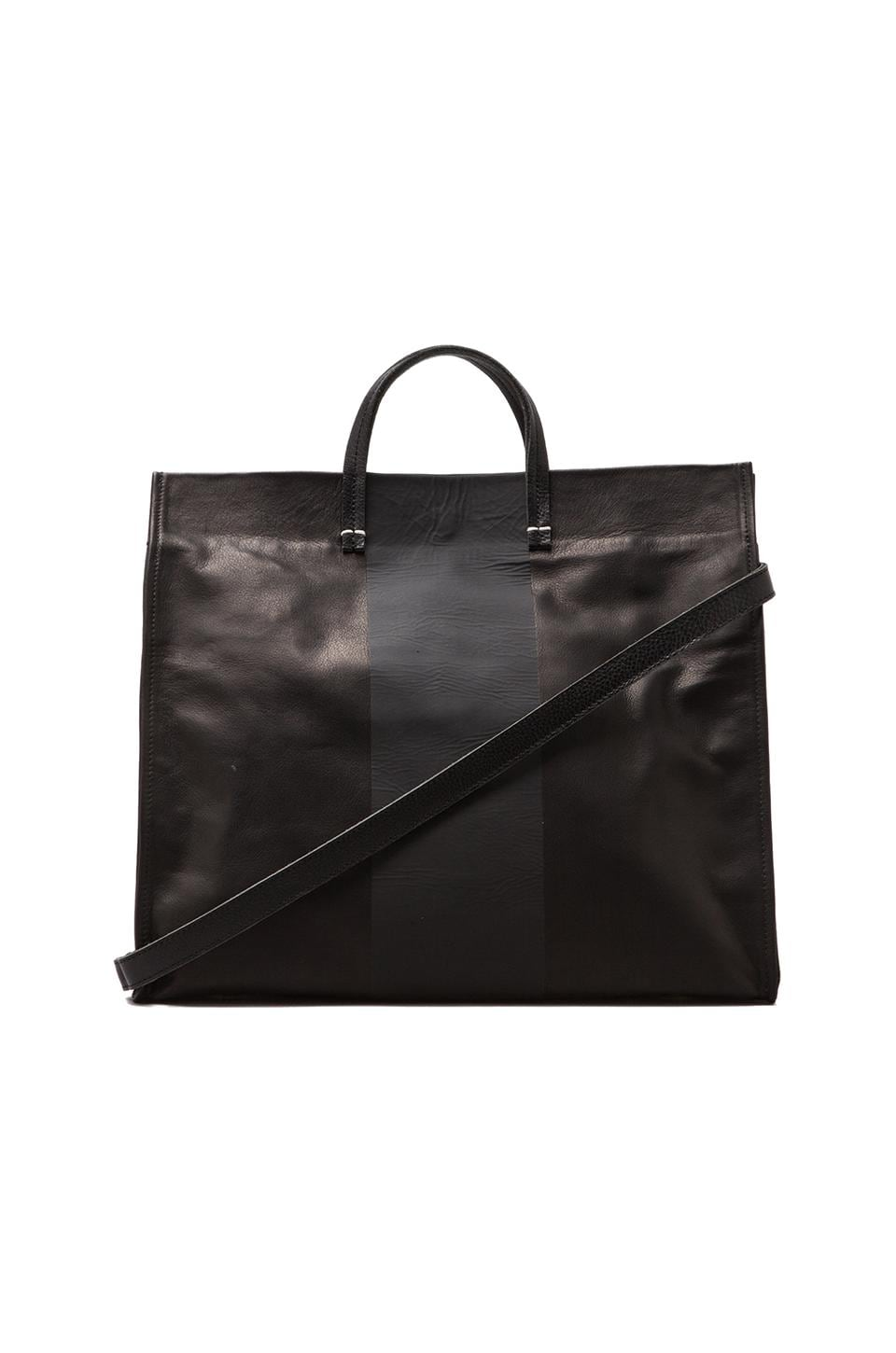 Clare V. Simple Tote in Velvet/Black