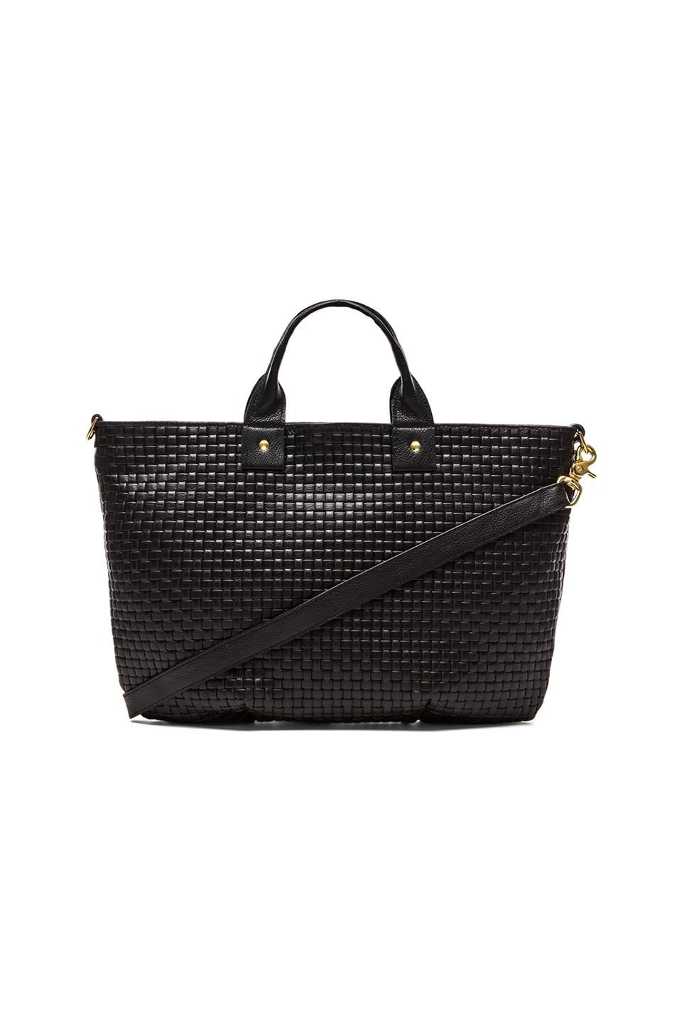 Clare V. Messenger Weekend in Black Basketweave