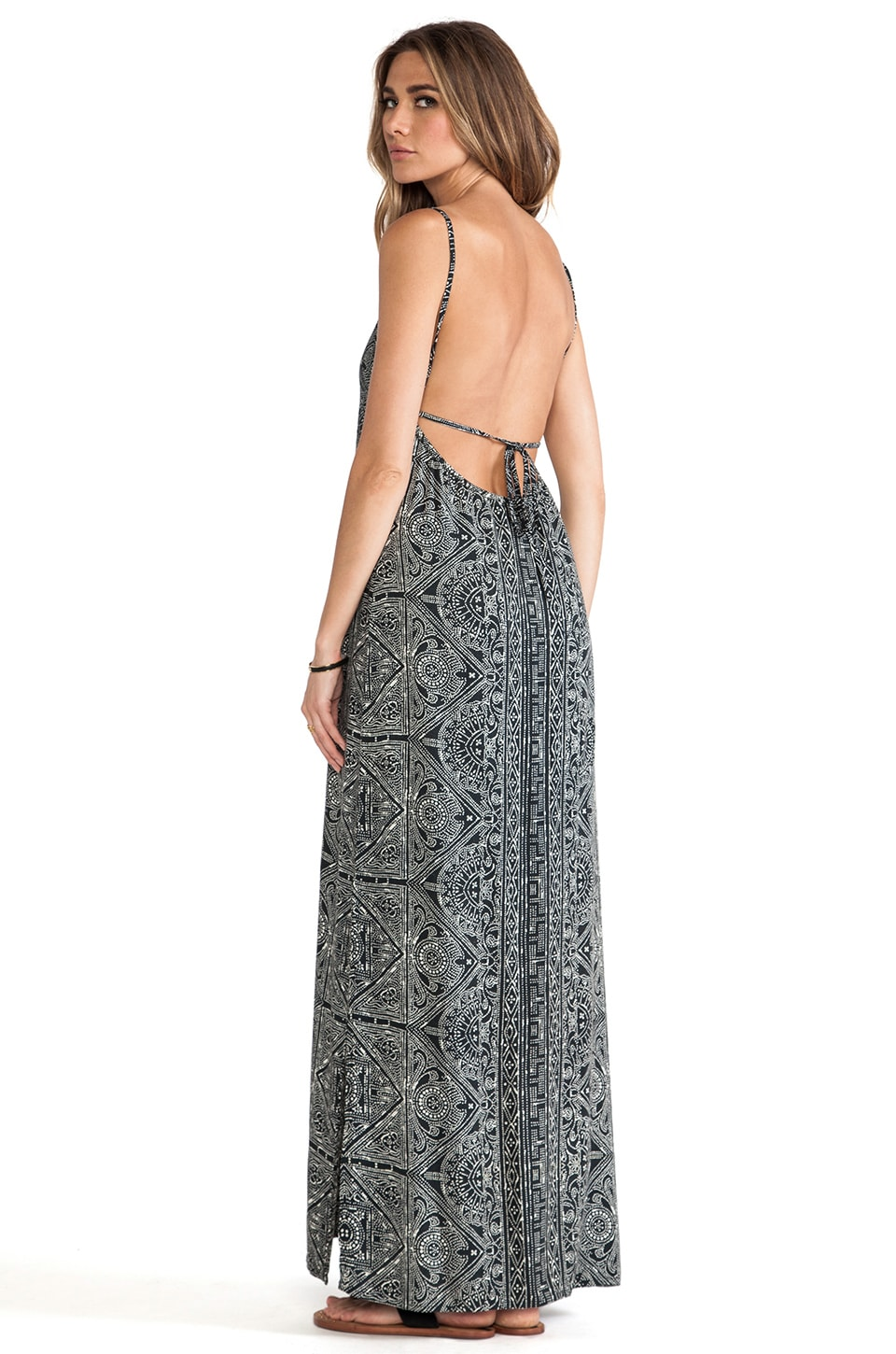 Cleobella Haven Maxi Dress in Black Batik