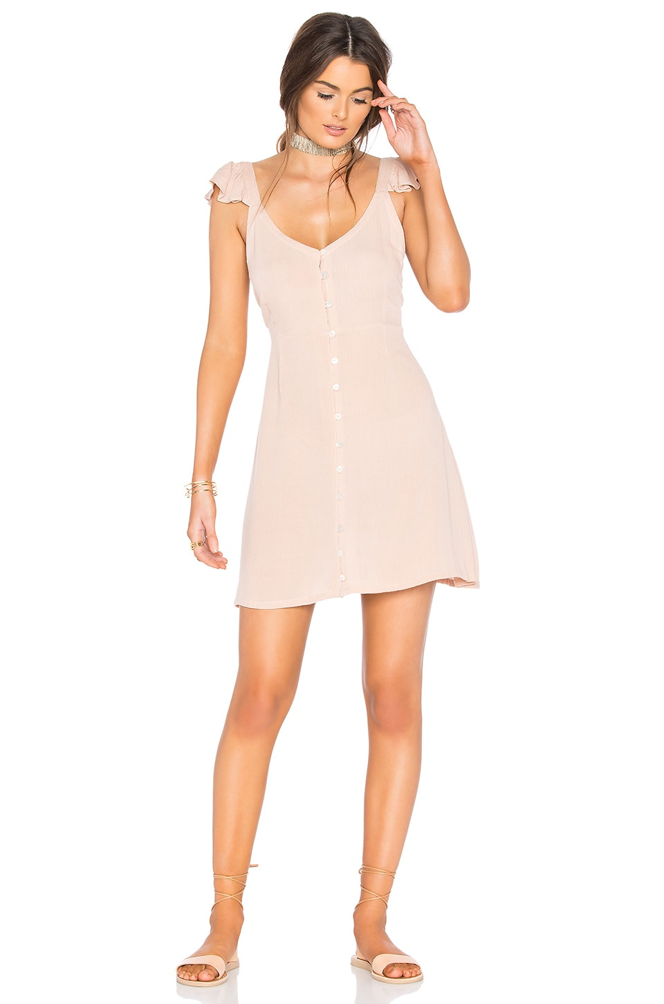 Cleobella Vinita Short Dress in Blush