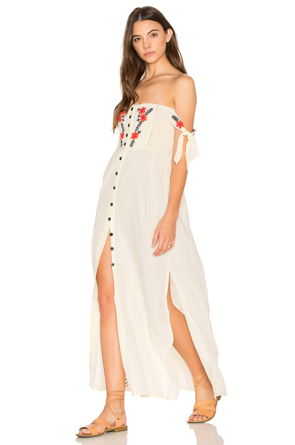 Cleobella Solita Maxi Dress in Ivory