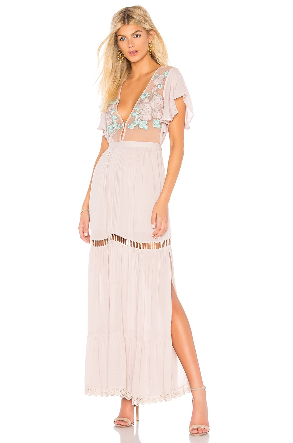 Cleobella Amery Maxi Dress in Lilac