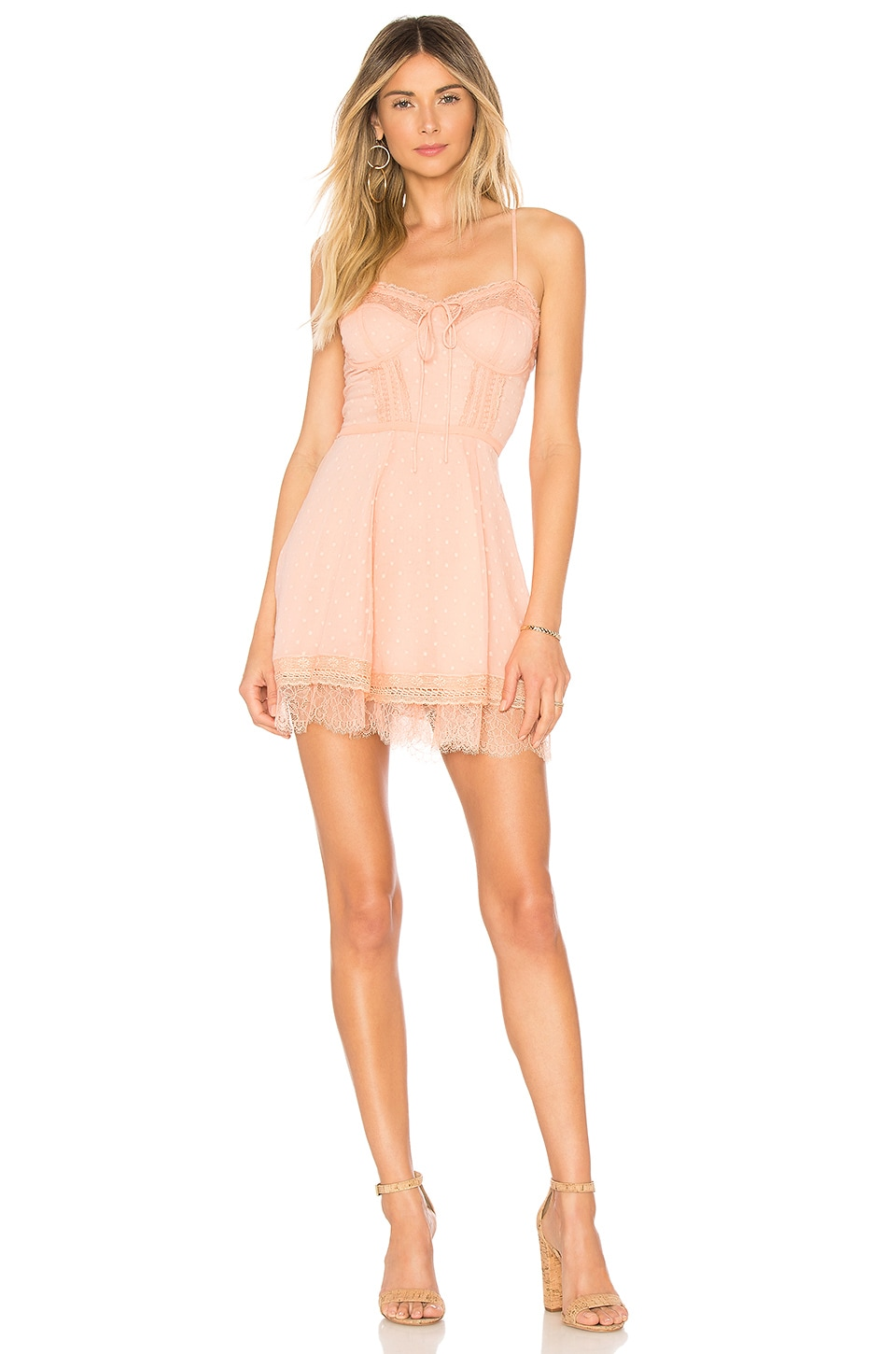 Cleobella Aliyah Dress in Pastel Coral