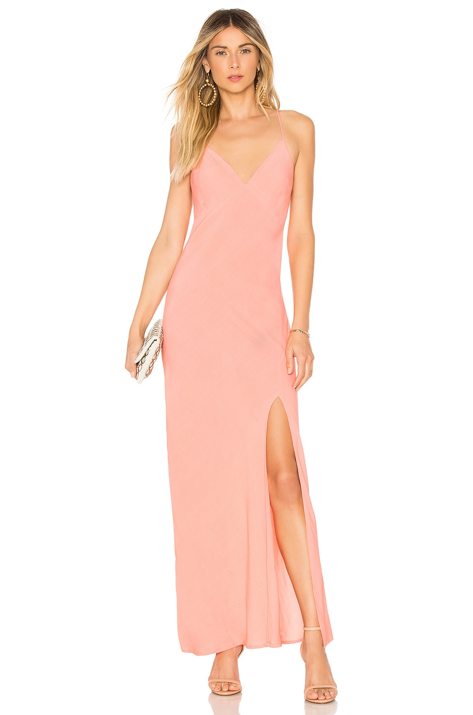 Cleobella Becket Slip Dress in Soft Coral