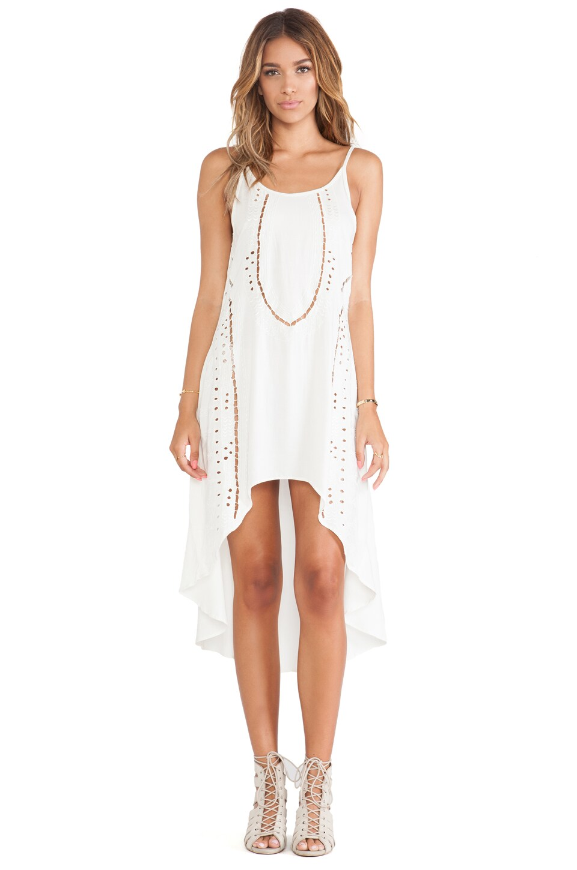 Cleobella Miki High Low Dress in Ivory