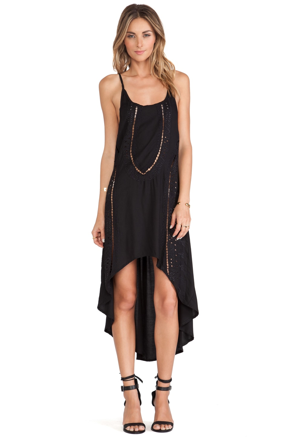 Cleobella Miki High Low Dress in Black