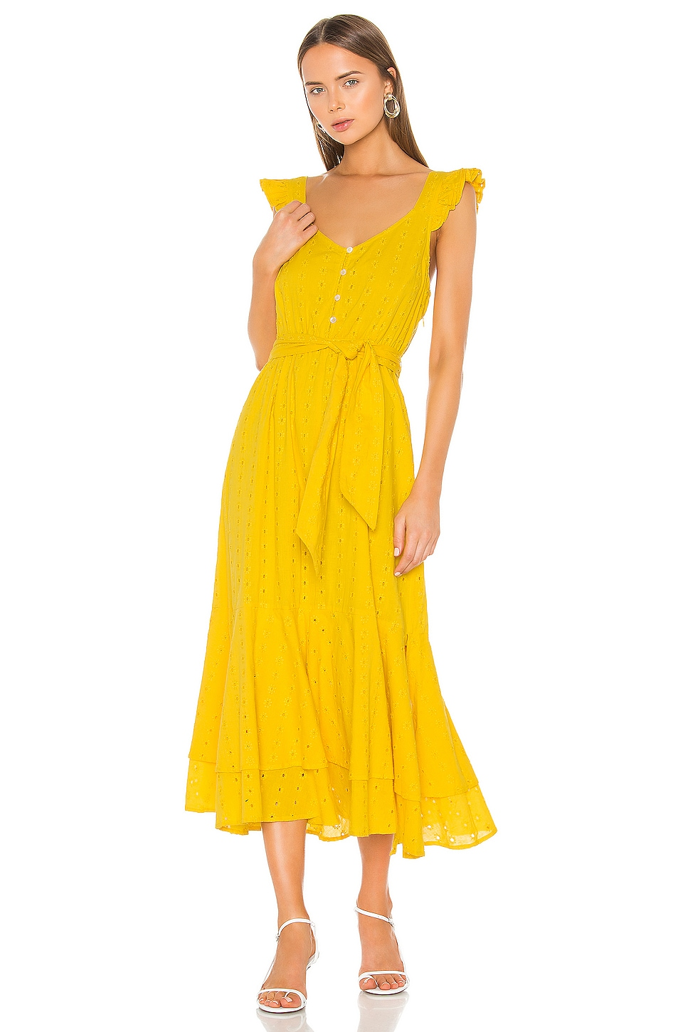 Cleobella Harlow Ankle Dress in Lemon