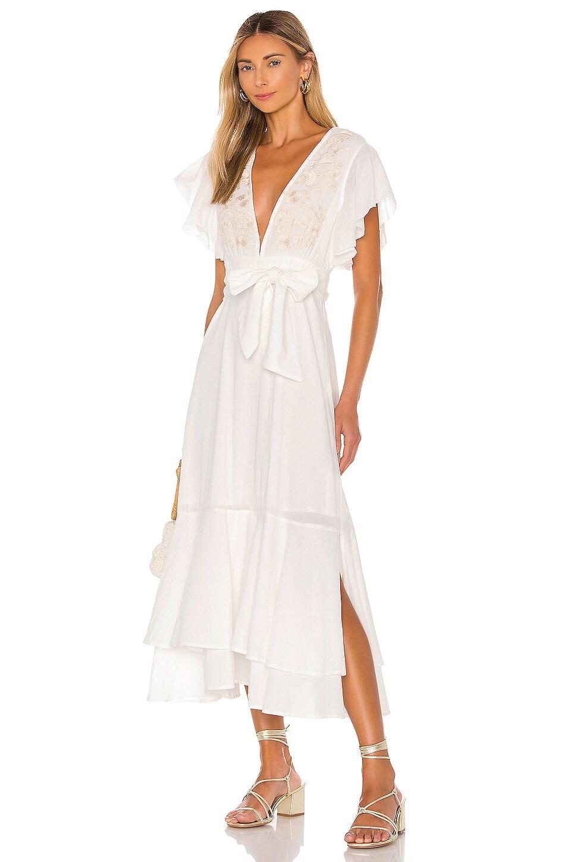 Cleobella Summer Midi Dress in Ivory