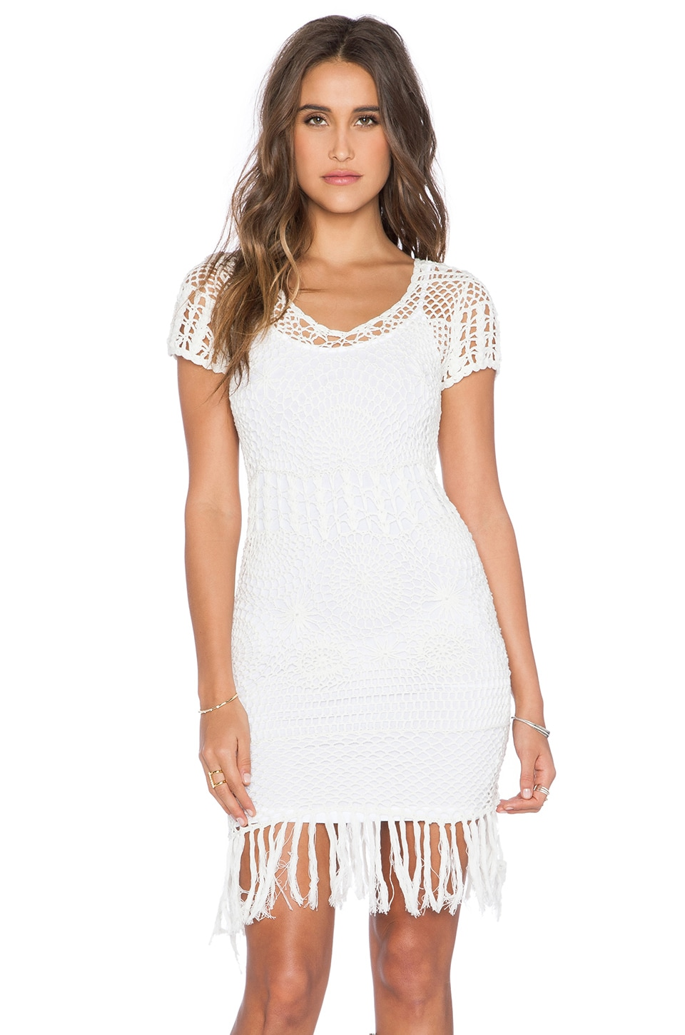 Cleobella Daisy Mini Dress in Ivory