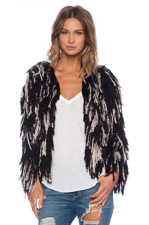 Cleobella Aubrey Fringe Sweater in Black